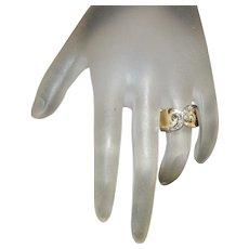14K French Diamond Ring