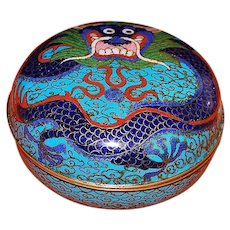 Chinese Cloisonne Dragon Box