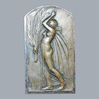 Belgian Silver Bronze Art Medal