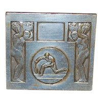 French Art Deco Silver Bronze Medal