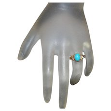 10K r/g Victorian Turquoise Ring