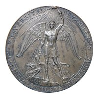 Large Silver Bronze Medal Brussels University