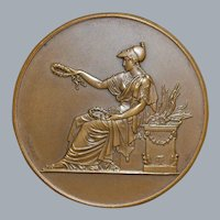 French Bronze College Medal - 1907