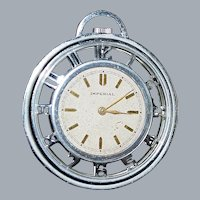 Art Deco Chrome Skeleton Pocket Watch