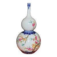 Chinese Porcelain Gourd Shaped Vase, 1920's