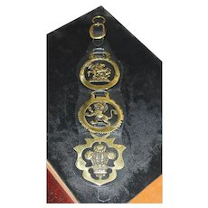 English Horse Brasses Leather Strap