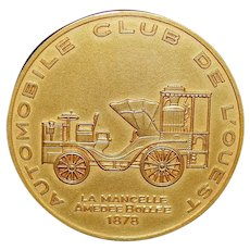 French Bronze Automobile Museum Medal