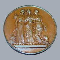 French Bronze Scientific Congress Medal - 1841