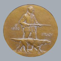"""Large First Issue Bronze """"Steady"""" Medal, 1930"""