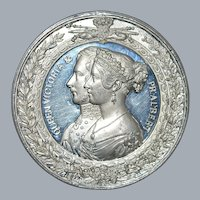 """English Silver bronze Medal """"Crystal Palace"""" Exposition - 1851"""