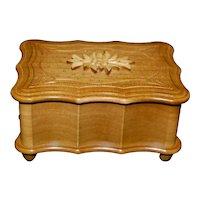 Swiss Musical Wooden Jewelry Box
