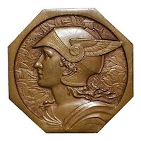French Art Deco Bronze Medal from The Society of Canine du Midi
