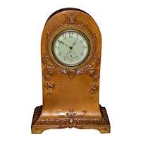 Art  Nouveau Bronze Table Clock