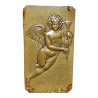 Italian Bronze Plaquette of an Angel