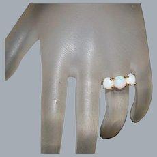 14k Three Opal Ring - 1920's