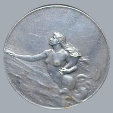 French Silver Bronze Shipping Medal