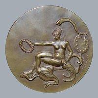 Belgian Art Deco Bronze Art Medal