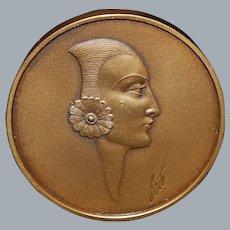 Erte Bronze Art Medal - Endurart