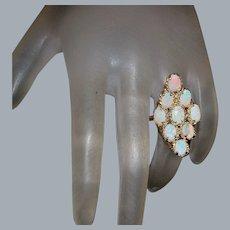 Large 14K Opal Ring