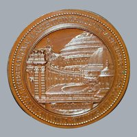 English Bronze Fine Arts Exhibition Medal - 1874