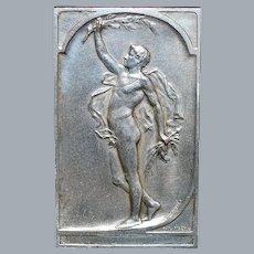 Dutch Art Nouveau Silver Bronze Plaquette