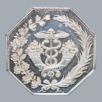 French Octagonal Silver Jeton Token