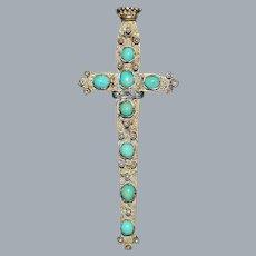 Fine Antique Austrian Silver Sword Brooch