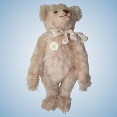 Pink Mohair Growler Steiff 1925 TEDDY ROSE BEAR Replica