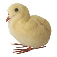 Old Large Cotton Batting BABY CHICK, Christmas Ornament Decoration