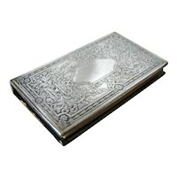 Antique STERLING SILVER Cigarette Paper Case, 1900 Paris Exposition