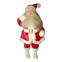 "1960s HAROLD GALE Christmas 14-1/2"" Tall Velvet Suit Kris Kringle SANTA Display Figure"