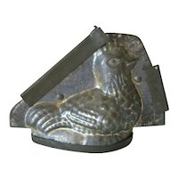 Antique Easter Chicken CHOCOLATE Candy MOLD, S. J. CO. Germany
