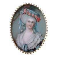 Lovely Vintage MARIE ANTOINETTE Shadow Box Ornate Framed Miniature, RICHARDS