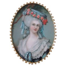 Lovely Vintage MARIE ANTOINETTE Shadow Box Ornate Framed Miniature, RICHARDS