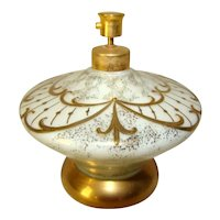 Mid-Century Modern HOLLYWOOD REGENCY Irice Gold Painted SPACESHIP Perfume Bottle