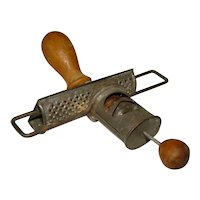 Antique 1890s NUTMEG SPICE GRATER Grinder Tool, Edgar Manufacturing Company