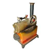 Vintage WEEDEN Over Type STEAM ENGINE Boiler Toy, Cast Iron Base, Waterglass