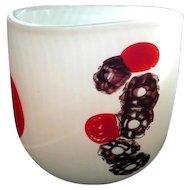 Levante* Signed Afro Celotto  Murano Glass Incamiciato Vase . 1980's