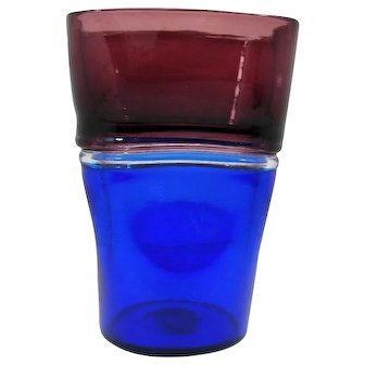 "Fulvio Bianconi (Padua 1915-1996 Milan), An ""a doppio incalmo"" Murano Glass Vase "", 1951"