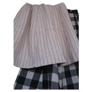 Early Child's Striped Oatmeal Wool Petticoat, PA