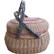 Antique  Amish Folk Art Basket, Kavli, Lancaster, PA
