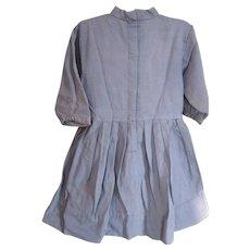 Vintage Amish Child's Blue Dress/Grey Apron, Indiana