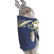 "Rare, Antique Steiff 8"" Peter Rabbit in Homemade Jacket"