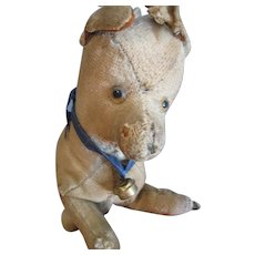 Early Primitive, Loved, Stuffed Dog