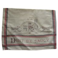 "Victorian  Printed Child's Bib, ""Don't Be Saucy""."