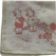 Vintage Children's Queen of Hearts Handkerchief