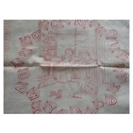 Early Children's Printed Handkerchief