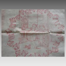 Early Children's Printed Handkerchief