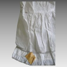 Early Child's White Petticoat Slip, Pinned Note