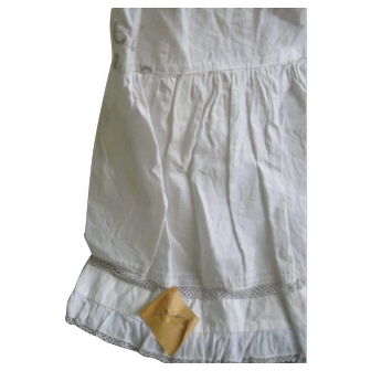 Early Child's White Petticoat Slip, Pinned Note